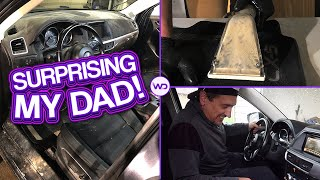 Stealing My Dad's FILTHY Car And Surprising Him With A Detail! | Satisfying Interior Detailing