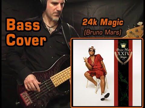 Bruno Mars - 24k Magic - Bass Cover imitating bass synth