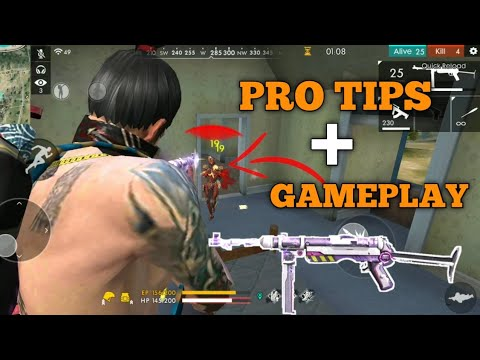 FREE FIRE | RANK PRO TIPS AND TRICKS 17 KILL FREE FIRE | KILL FULL SQUAD WITH MP40