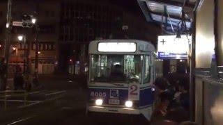 函館市電、十字街駅。