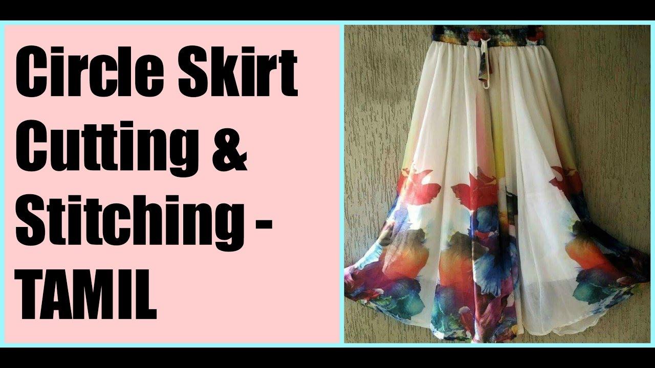 Circle Skirt cutting & sittching Tamil (DIY) - YouTube