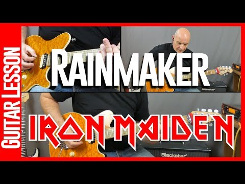 Rainmaker By Iron Maiden - Guitar Lesson Tutorial