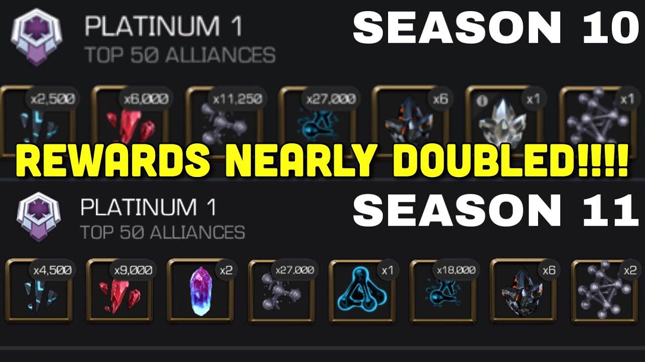 NEW Alliance War Season 11 Rewards Nearly Doubled   Season