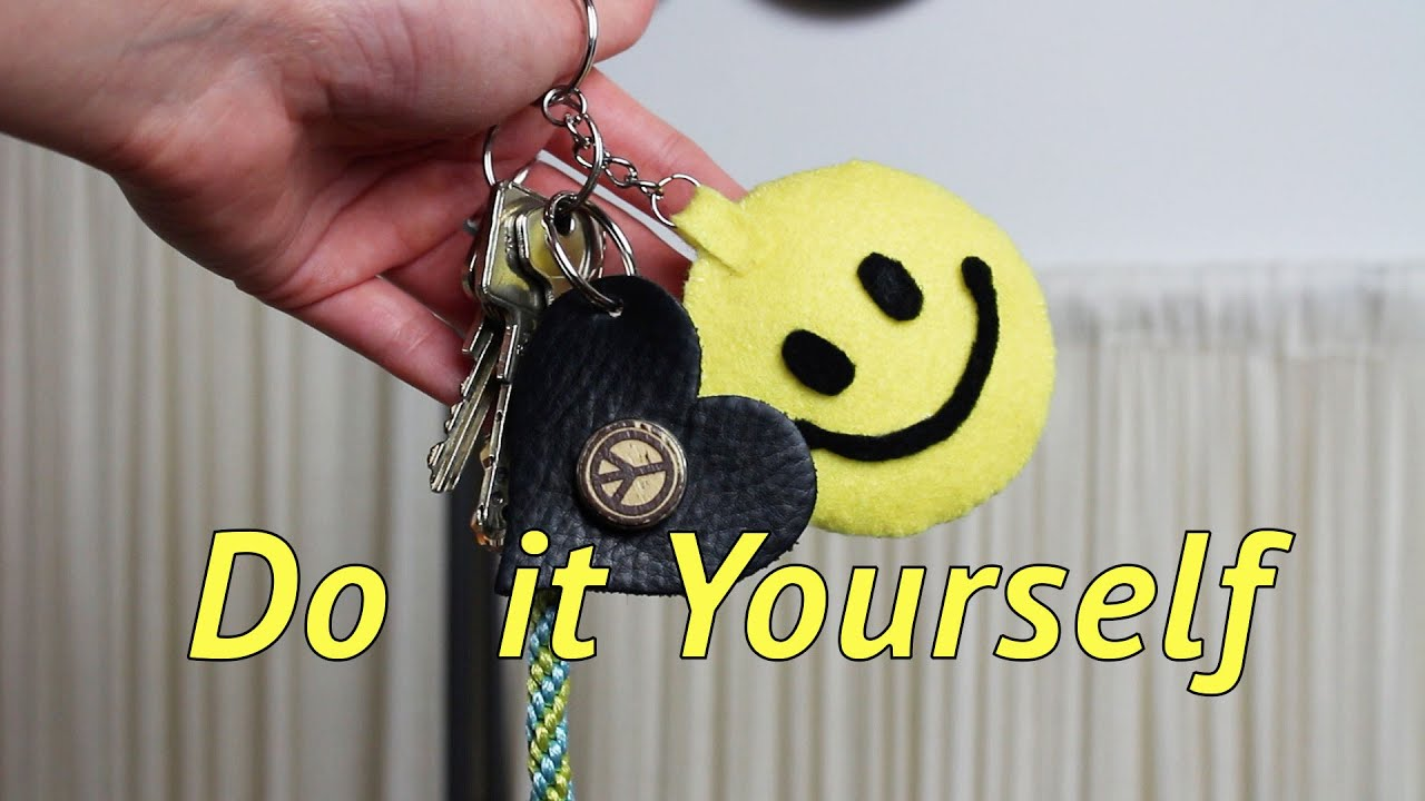 Smiley Schlüsselanhänger Diy Mit Hand Nähen Do It Yourself Youtube