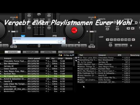 Playlist erstellen in Virtual DJ