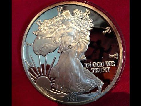 1 Pound Pure Silver America Liberty Coin 1996