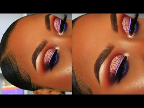 Pink Glitter Cut Crease/BIRTHDAY GLAM | Makeup Tutorial
