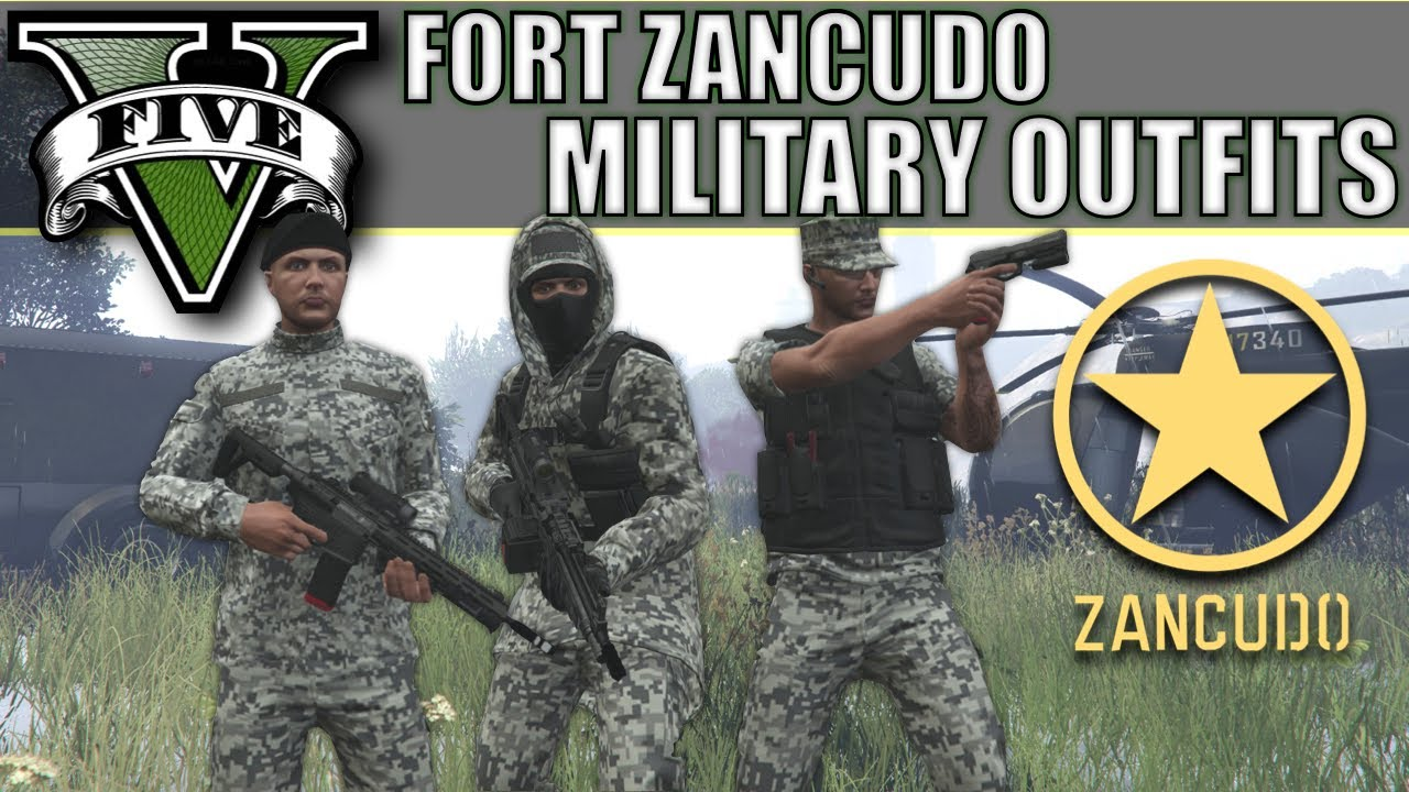 GTA V - New Fort Zancudo Military Outfits! Top Custom Military Outfits