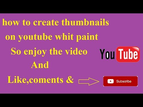 #How to create thumbnile on youtube whit paint [rasel telecom]