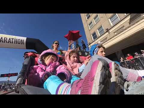 Casey Carter - Mom runs 3h, 11m marathon while pushing three kids in stroller