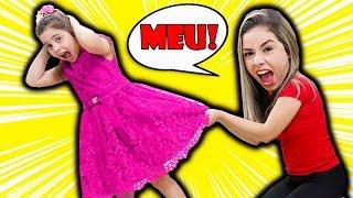 HELOÍSA E MAMÃE QUEREM O MESMO VESTIDO! both want the same dress