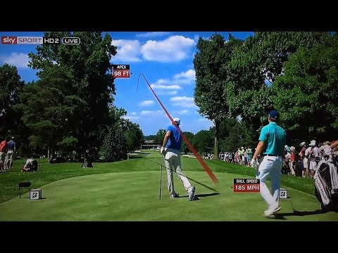 Golf TrackMan Tracer Compilation - World Golf Championships-Bridgestone Invitational 2016.