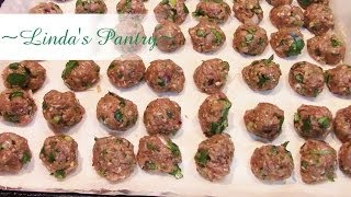 ~spicy Asain Meatball Soup & Prep For The Freezer With Linda's Pantry!