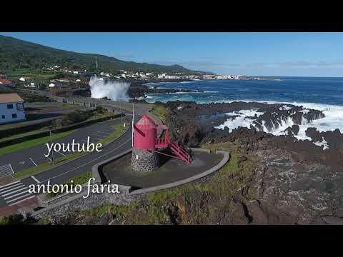 Vila de São Roque Ilha do Pico Açores 2019 Vista Aérea