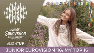 Junior Eurovision 2018 | My Top 16 | ESC Leon