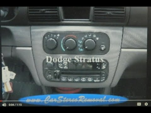 Dodge Stratus Stereo Removal - YouTubeYouTube