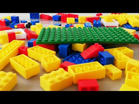 Building Blocks For children learning colours | building blocks house for kids..