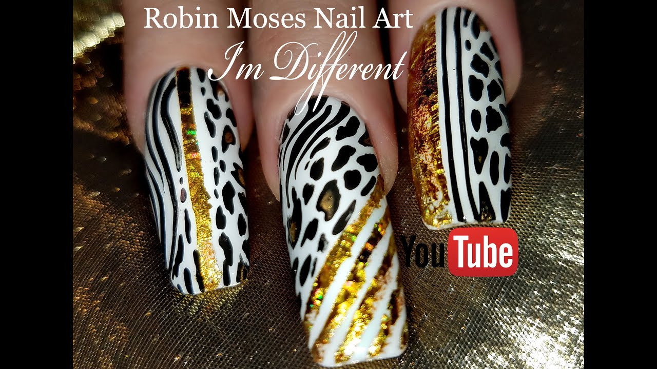 DIY Diva Nail Art Design Tutorial | Fierce Animal print Nails - YouTube