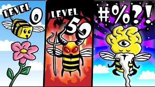 GETTING MAX LEVEL BEE EVOLUTION in Bee Simulator! // Roblox