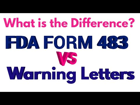 Fda Form 483 And Warning Letter What