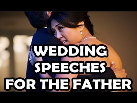 How to write a father of the bride wedding speech