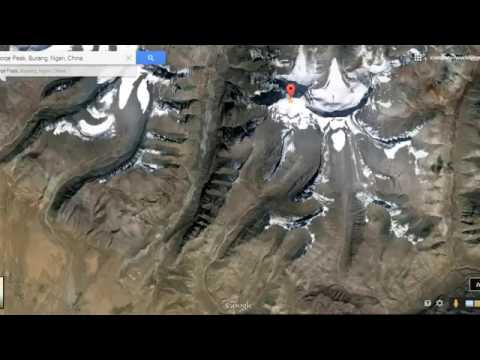 Lord Shivas mount kailash view from satellite map in Google Earth