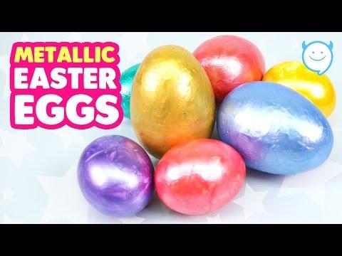 Coloring Metal Easter Eggs - Edible Glitter Easter egg | MonsterKids