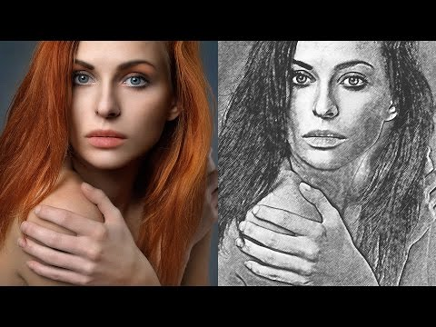 Artistic Pencil Sketch Effect - Change Photos into Crayon Pencil Drawing - Photoshop Tutorial