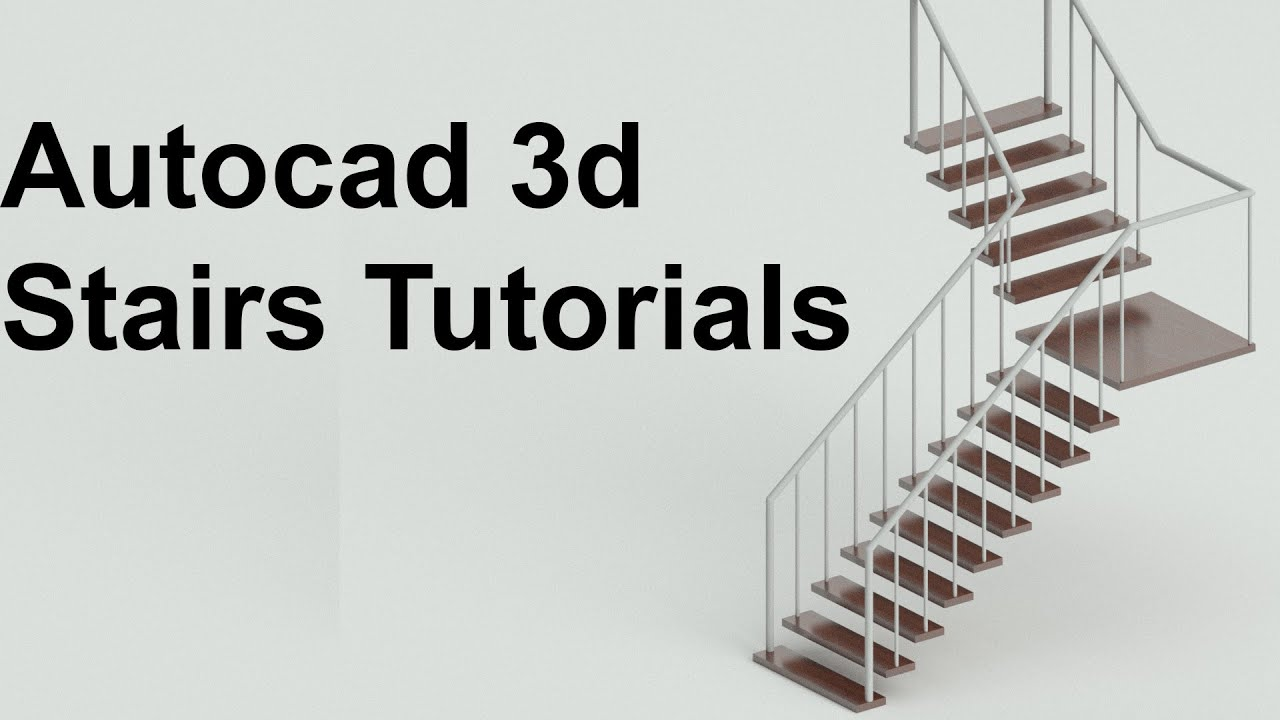 Autocad Tutorial how to create 3d Stairs
