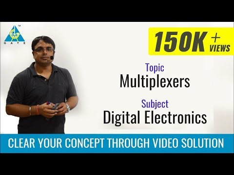 GATE Lecture on Introduction to Multiplexer (part-1) (Digital Electronics) (Hindi Language )