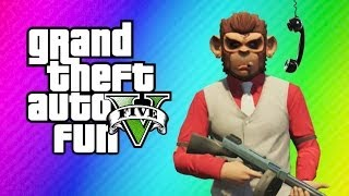 GTA 5 Online Funny Moments - Vanoss Vs. Bicycle, Launch Glitch, Lui Calibre Prank Calls his Mom!