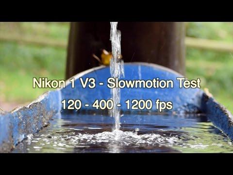 Nikon 1 V3 - Slow Motion Test #2 - 120 - 400 - 1200 fps - HD 720p