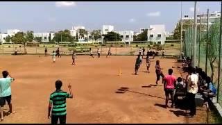 Street cricket in satyabama university