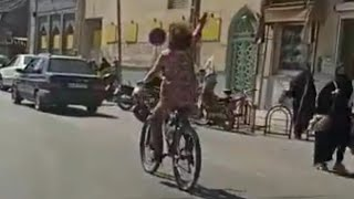 video: Woman arrested in Iran after video showing her cycling without hijab goes viral