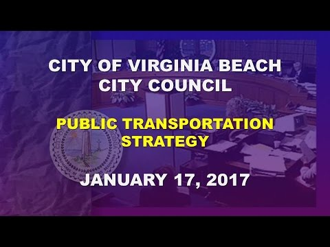 Public Transportation Strategy - 01/17/2017