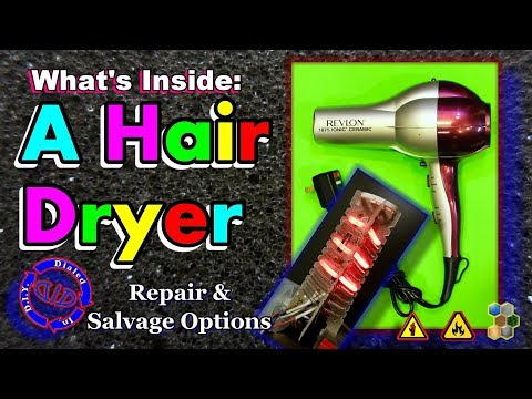 Whats Inside a Hair Dryer - How to Repair or Salvage