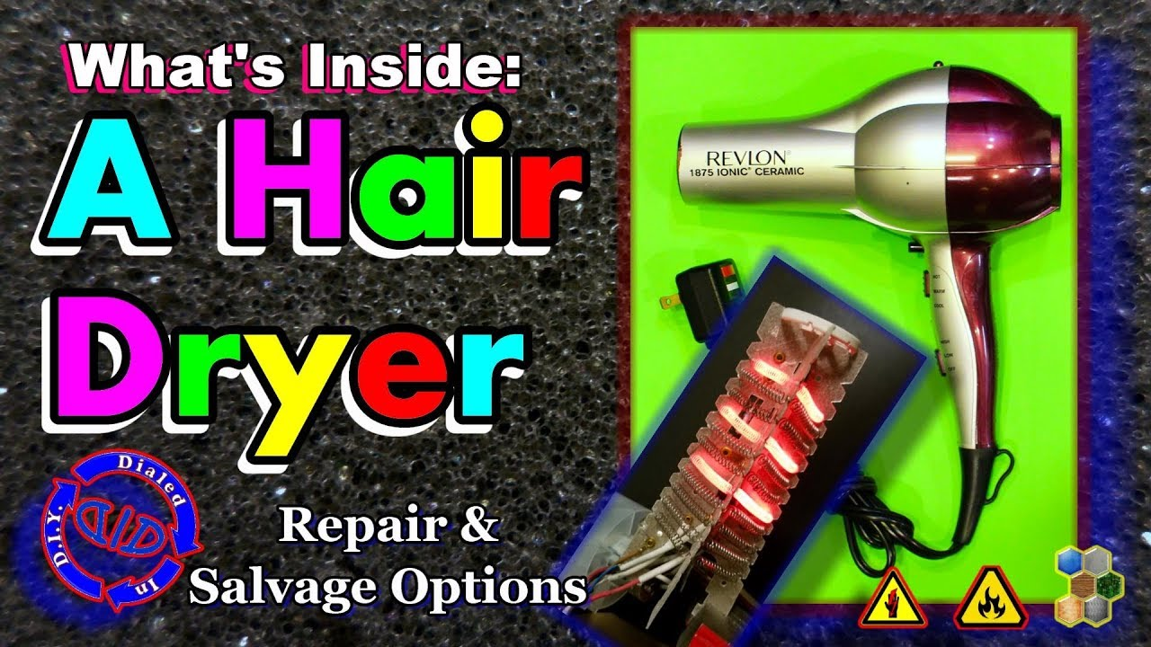 Whats Inside a Hair Dryer - How to Repair or Salvage on