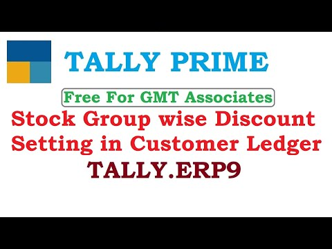Stock Group wise Discount Setting in Customer Ledger