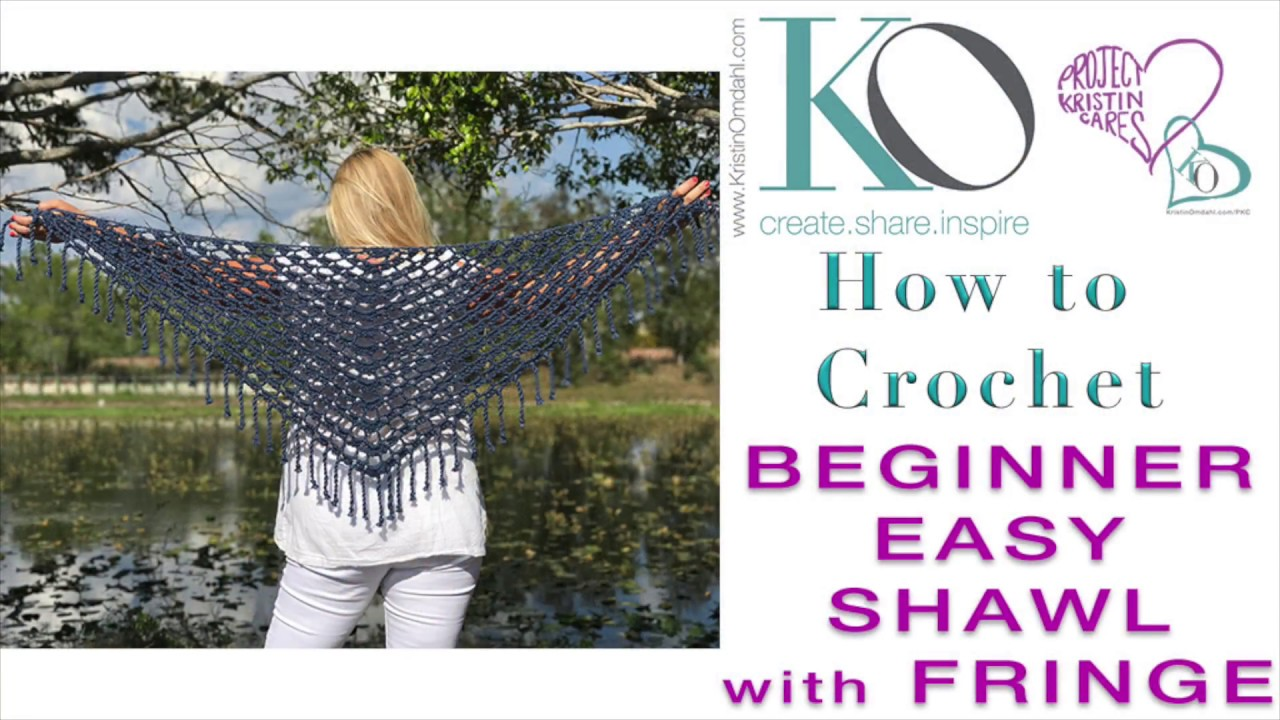 How to crochet top down triangle celeste shawl with boho fringe how to crochet top down triangle celeste shawl with boho fringe bankloansurffo Choice Image