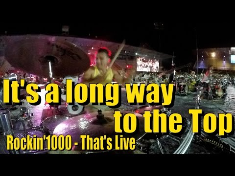 Rockin'1000 - AC/DC - Drum Cam