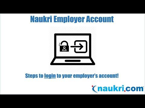 How to Login to the Naukri Employer's account? - YouTube