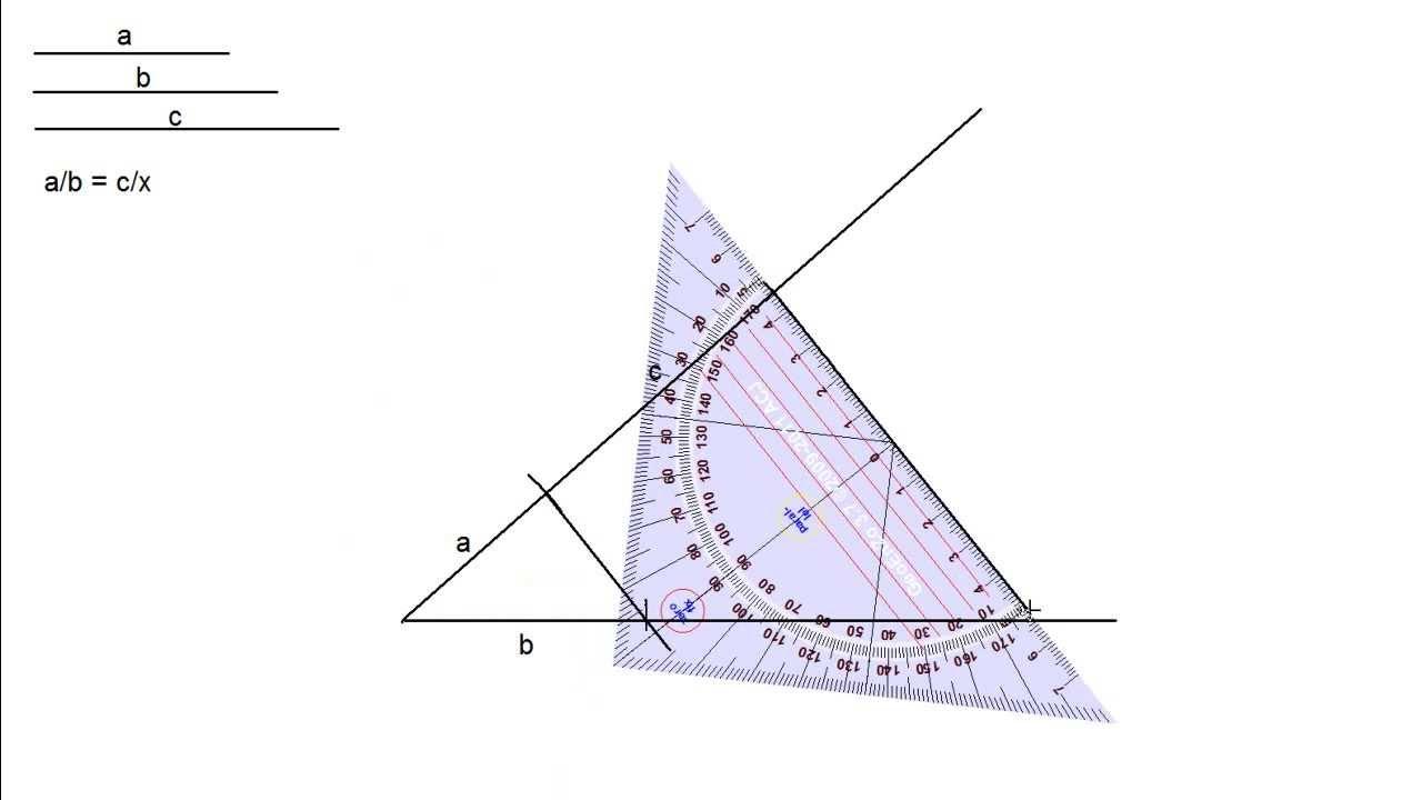 Hallar el segmento cuarto proporcional a otros tres ...