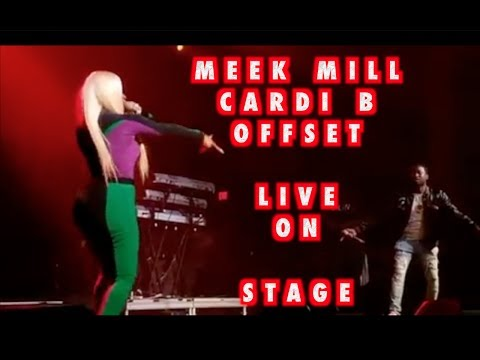 MEEK MILL CARDI B OFFSET PERFORM BODAK YELLOW LIVE TOGETHER 2017