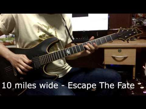 10 miles wide - Escape The Fate [Guitar Cover] HD