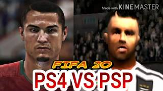 FIFA 20 PSP VS FIFA 20 PS4 NEW FEATURES AND FACES COMPARISON