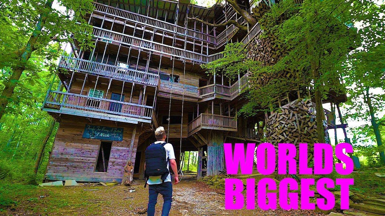 World's LARGEST Tree House - ABANDONED