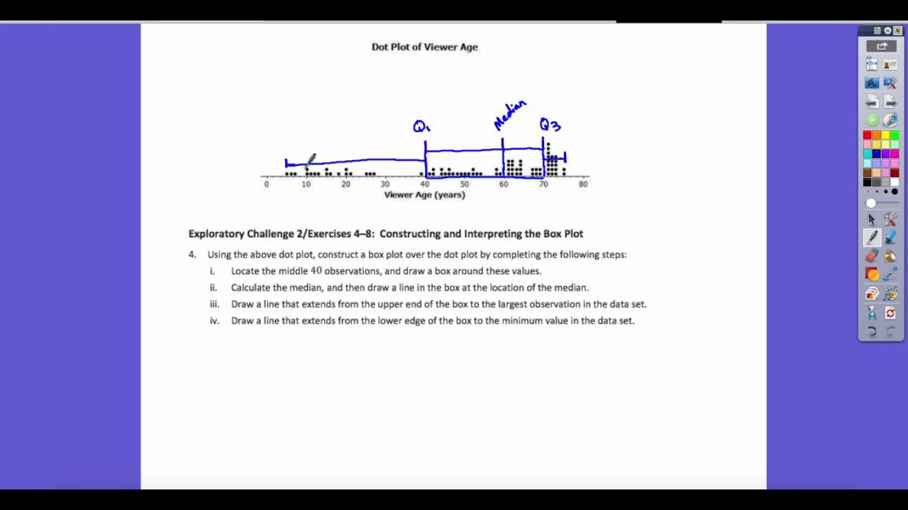 How To Find The Median From A Dot Plot By Christopher Anvil Dot Plot Video  Notes