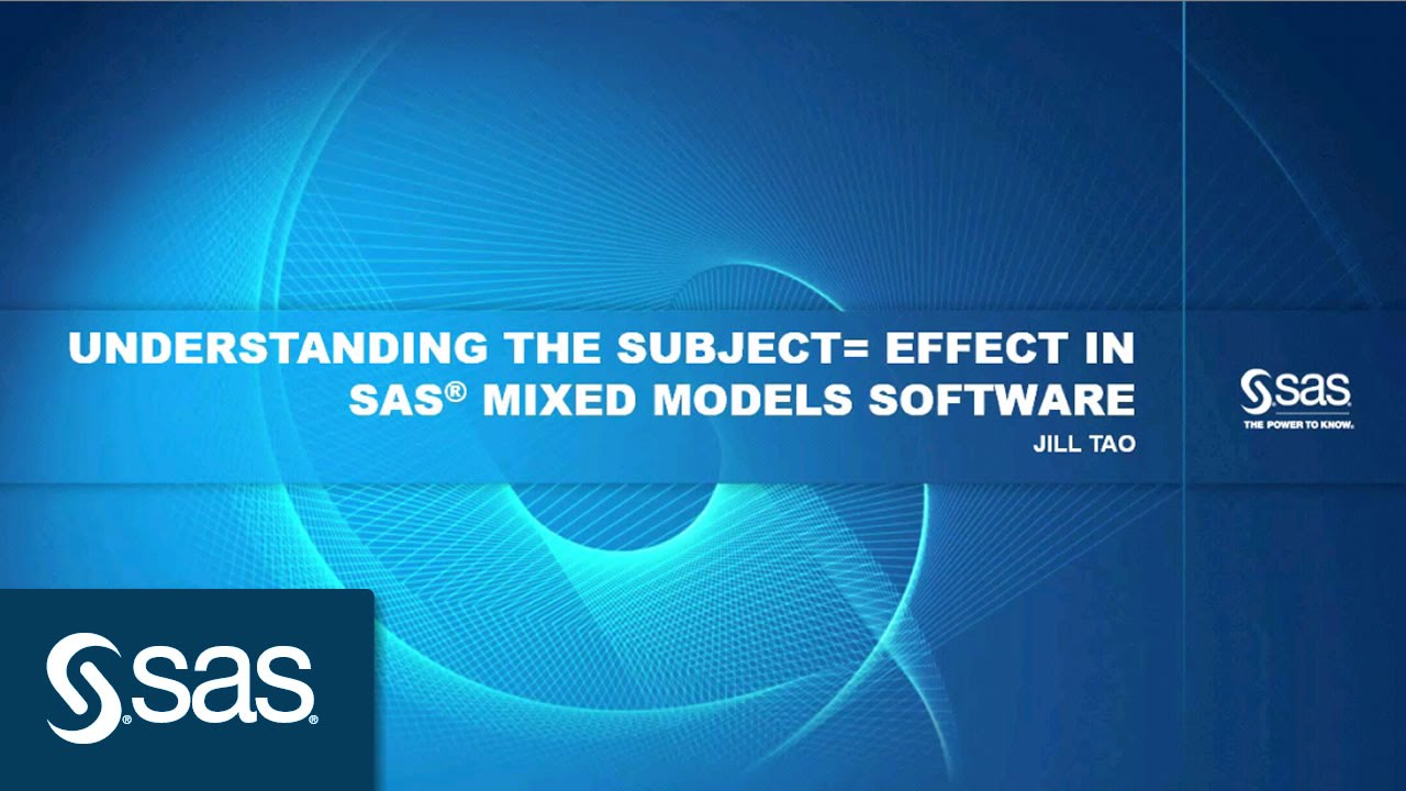 Understanding the Subject= Effect in SAS® Mixed Models Software