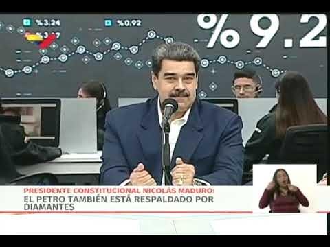 Presidente Maduro reitera que pensionados y trabajadores públicos recibirán medio Petro en diciembre