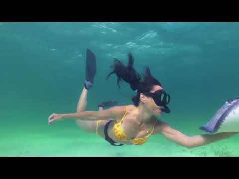Sexy Bikini Woman Snorkeling